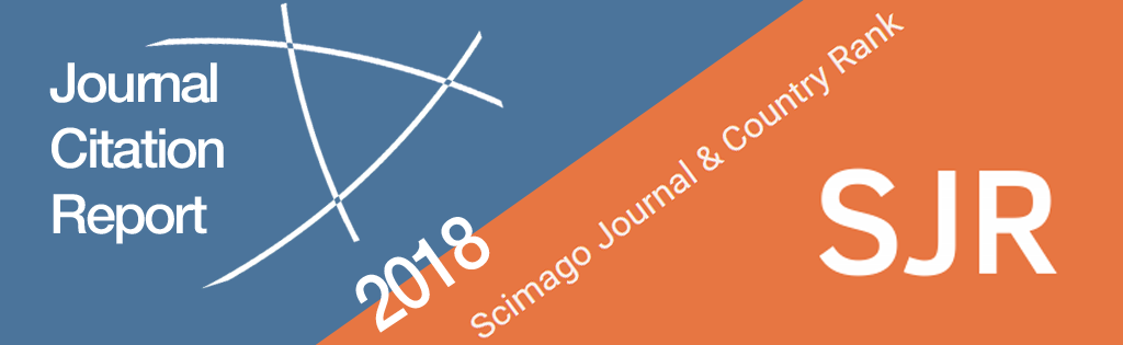 Journal Citation Reports y Scimago Journal Rank 2018