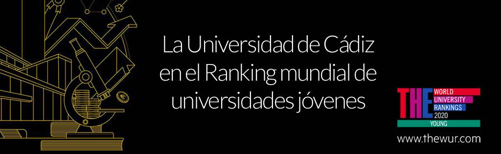 La Universidad de Cádiz en el Ranking mundial de universidades jóvenes